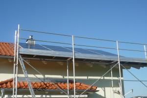 Photovoltaik - Eigenverbrauch, Montage und Fertigstellung der Photovoltaik-Anlage